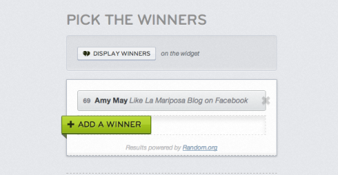 Winner: AMY MaY