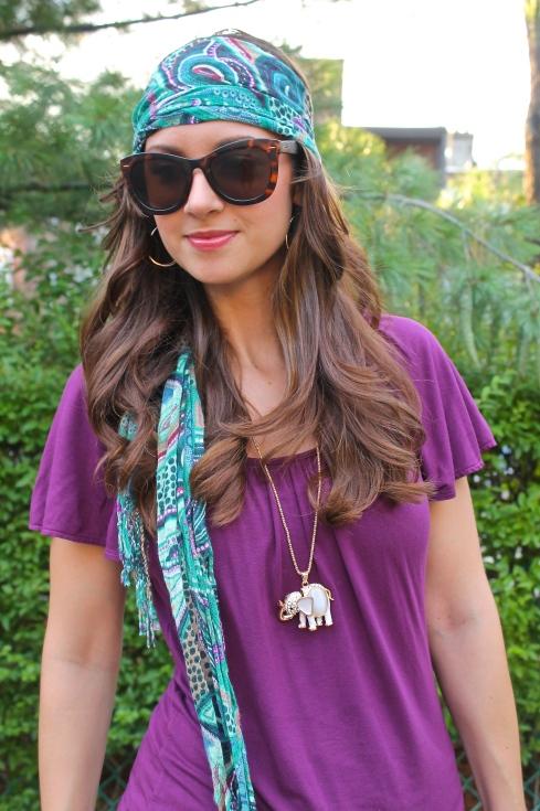 La Mariposa: Boho Headscarf