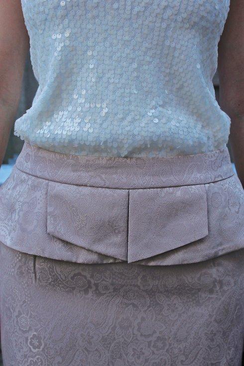 La Mariposa: sequin tank & peplum skirt