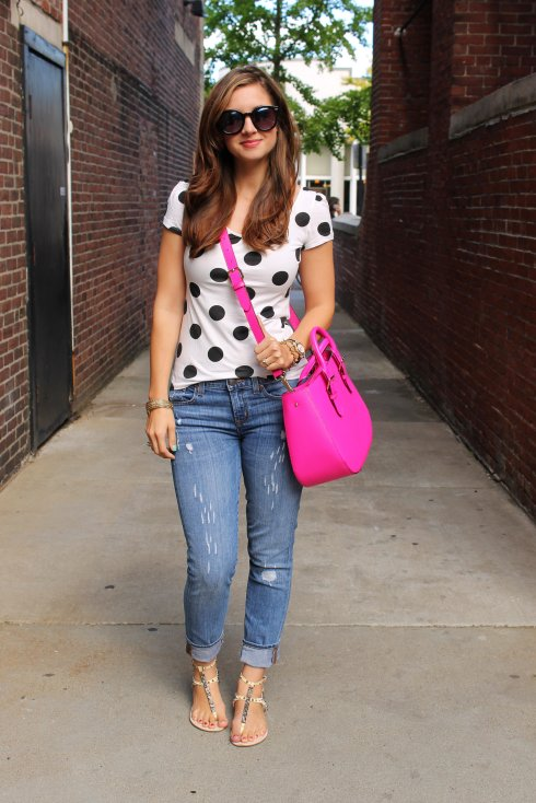 La Mariposa: Polka Dot Top