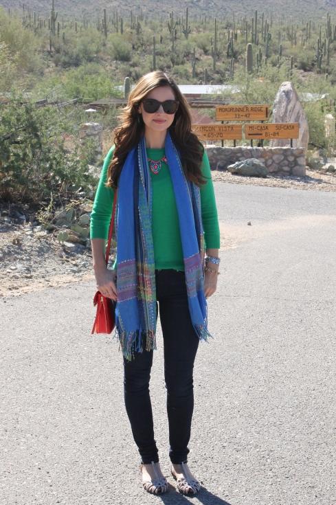 La Mariposa: Green, Blue & Red