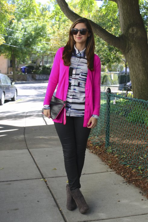 La Mariposa: Neon Pink Cardigan