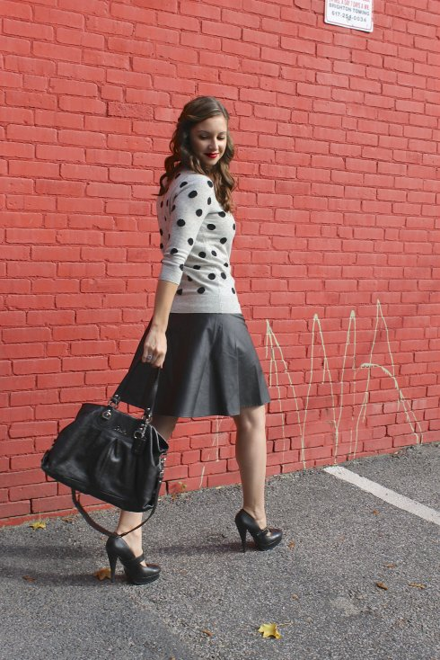 La mariposa: Polka Dots & Leather