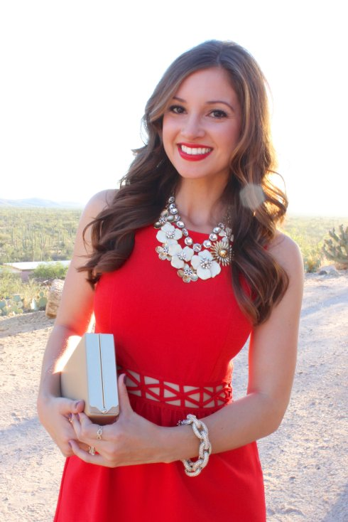 La Mariposa: Red Cutout Dress