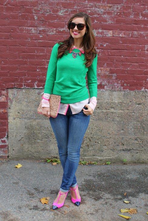 La Mariposa: Green & Pink