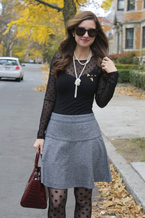 La Mariposa: Mesh Dots & Tweed