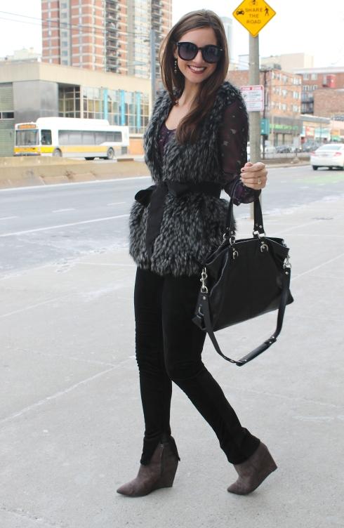 La Mariposa: Faux Fur Vest