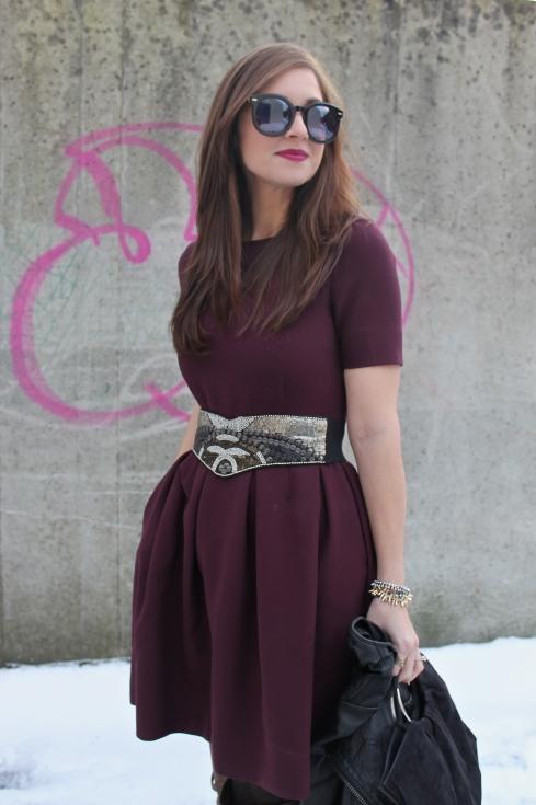 La Mariposa: Burgundy Full Dress